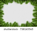 vector christmas frame with... | Shutterstock .eps vector #738165565