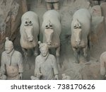 xian china  12 august 2005  the ...   Shutterstock . vector #738170626
