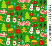 christmas greeting seamless... | Shutterstock .eps vector #738173512