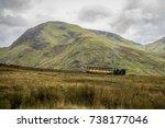 train going up snowdon mountain | Shutterstock . vector #738177046