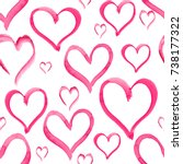 heart love shape pattern set... | Shutterstock . vector #738177322