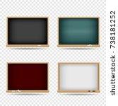 school blackboard set on... | Shutterstock .eps vector #738181252