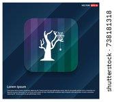 halloween tree icon | Shutterstock .eps vector #738181318
