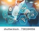crm customer relationship... | Shutterstock . vector #738184006
