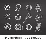 big set of various balls on... | Shutterstock .eps vector #738188296