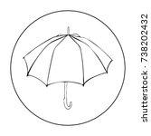 opened umbrella isolated on...