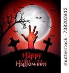 halloween zombie hand | Shutterstock . vector #738202612