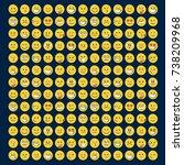 set of smile icons. emoji.... | Shutterstock .eps vector #738209968
