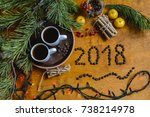 christmas breakfast  christmas... | Shutterstock . vector #738214978