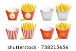 french fries set vector.... | Shutterstock .eps vector #738215656