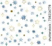 watercolor seamless pattern....   Shutterstock . vector #738216778