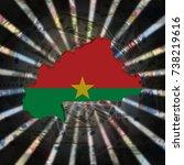 burkina faso map flag on... | Shutterstock . vector #738219616