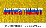 investment text with slovakian... | Shutterstock . vector #738219622