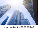 guangzhou pearl river new city  ... | Shutterstock . vector #738223162