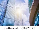 guangzhou pearl river new city  ... | Shutterstock . vector #738223198