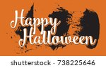 happy halloween pictures. happy ... | Shutterstock .eps vector #738225646