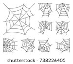 spider web thin line icon set.... | Shutterstock .eps vector #738226405