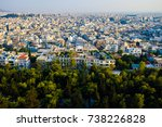 panoramic view on athens.... | Shutterstock . vector #738226828
