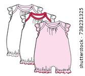 baby flat sketch template... | Shutterstock .eps vector #738231325