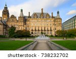 sheffield town hall is a... | Shutterstock . vector #738232702
