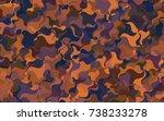 dark blue  red vector abstract... | Shutterstock .eps vector #738233278