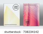 minimal covers design. vector... | Shutterstock .eps vector #738234142