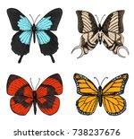 tattoo or boho t shirt or... | Shutterstock .eps vector #738237676