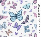 tattoo or boho t shirt or... | Shutterstock .eps vector #738237688