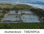 shrimp pond shrimp farm at... | Shutterstock . vector #738240916