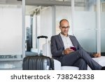 mature businessman using mobile ...   Shutterstock . vector #738242338