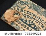 Small photo of Wooden Board Ouija: Communication with Spirits, Religion Theme.