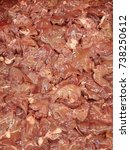 Small photo of raw chicken liver, offal , gizzard , pluck , giblet , tripe