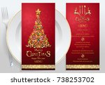 christmas greeting and new...   Shutterstock .eps vector #738253702