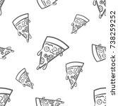 pizza pattern   Shutterstock .eps vector #738259252