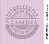 stamina pink emblem. retro | Shutterstock .eps vector #738259612