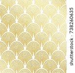 vector geometric gold...   Shutterstock .eps vector #738260635