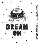 vector illusrtation. dream on....   Shutterstock .eps vector #738260992