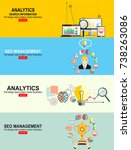 flat illustration web analytics ... | Shutterstock .eps vector #738263086