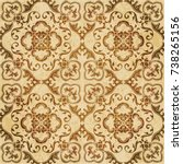 retro brown watercolor texture...   Shutterstock .eps vector #738265156