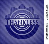 thankless emblem with jean...   Shutterstock .eps vector #738265606