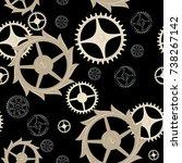 seamless image of cogwheels of...   Shutterstock .eps vector #738267142