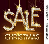 vector luxury christmas sale... | Shutterstock .eps vector #738267238