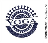 blue yoga distress grunge stamp | Shutterstock .eps vector #738268972