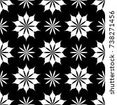 black and white floral ornament....   Shutterstock .eps vector #738271456