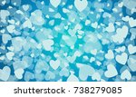 vector blue background with... | Shutterstock .eps vector #738279085