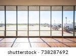 the window of the airport... | Shutterstock . vector #738287692