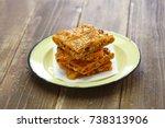 galician style homemade tuna...   Shutterstock . vector #738313906