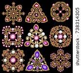 illustration set of jewelry...   Shutterstock .eps vector #738314305