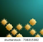 abstract green background with... | Shutterstock . vector #738315382