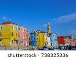 burano  italy   july 13 ... | Shutterstock . vector #738325336